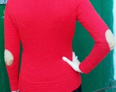 Basket Stitch Saddle Shoulder Sweater Knitting Pattern (PDF File)