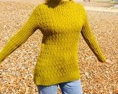 Smocked Ribbed Sweater Knitting Pattern (PDF File)