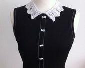 Lacy Detachable Collar Knitting Pattern (PDF File)