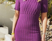 Cable Dress Knitting Pattern (PDF File)