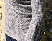 Tailored Rib Sweater Knitting Pattern (PDF File)