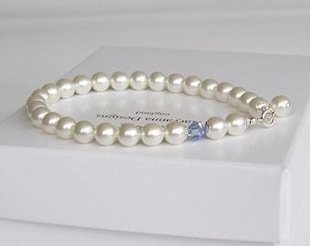 Bridal bracelet, something blue, pearl bracelet, pearl wedding bracelet, wedding jewelry, bridal jewellery, brides bracelet