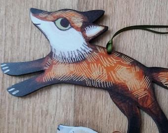 Hanging Fox Decoration