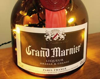 Lighted Grand Marnier Bottle