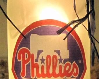Lighted Bottle Philadelphia Phillies