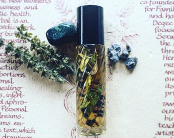 Earth Song~ Aromatherapy Smudge Oil~ Palo Santo, Holy Basil + Copal