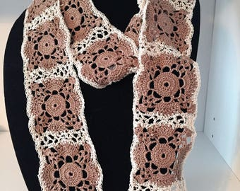 Crocheted Scarf Hand Crocheted Motif Fashion Neck Scarf Accessories