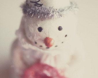 snowman, winter, Christmas, holiday, fine art photography