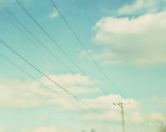 sky, clouds, blue, white, dreamy, lensbaby, fine art photography