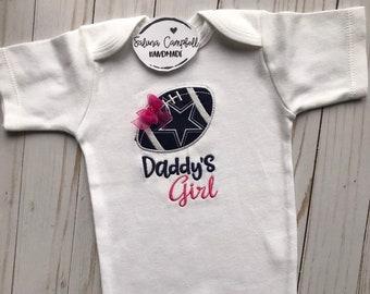 8635251c3 Dallas Cowboys Inspired Daddy s Girl Shirt or bodysuit