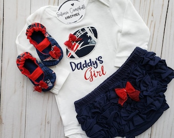 New England Patriots Daddy s Girl Baby Gift Set 7414c7795