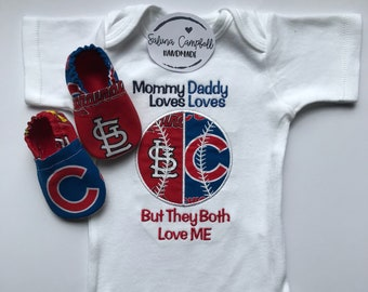 House Divided Baseball Shirt or bodysuit and Matching Booties