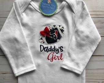 Houston Texans Inspired Daddys Girl Shirt or bodysuit