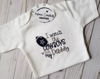Dallas Cowboys with Daddy Baby Shirt or Bodysuit e296d8ab1