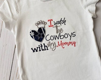 d5c24591a Dallas Cowboys Inspired Mommy s Girl Shirt