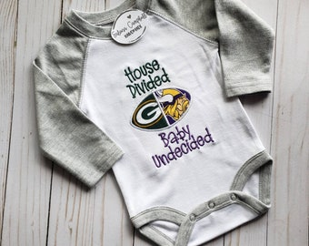 Baby Football Outfit Football Baby Outfit,Going Home Outfit New Baby Gift House Divided Baby ~ College Teams Baby Shower Gift