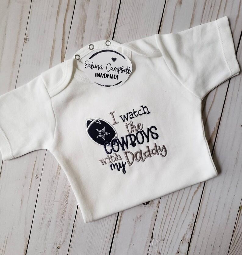 9c33e57f Dallas Cowboys with Daddy Baby Shirt or Bodysuit
