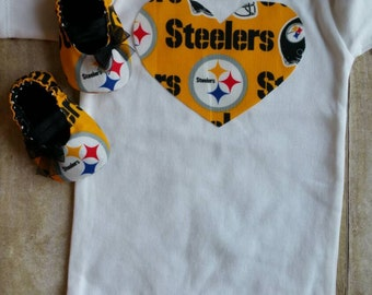 Pittsburg Steelers Inspired Heart Shirt