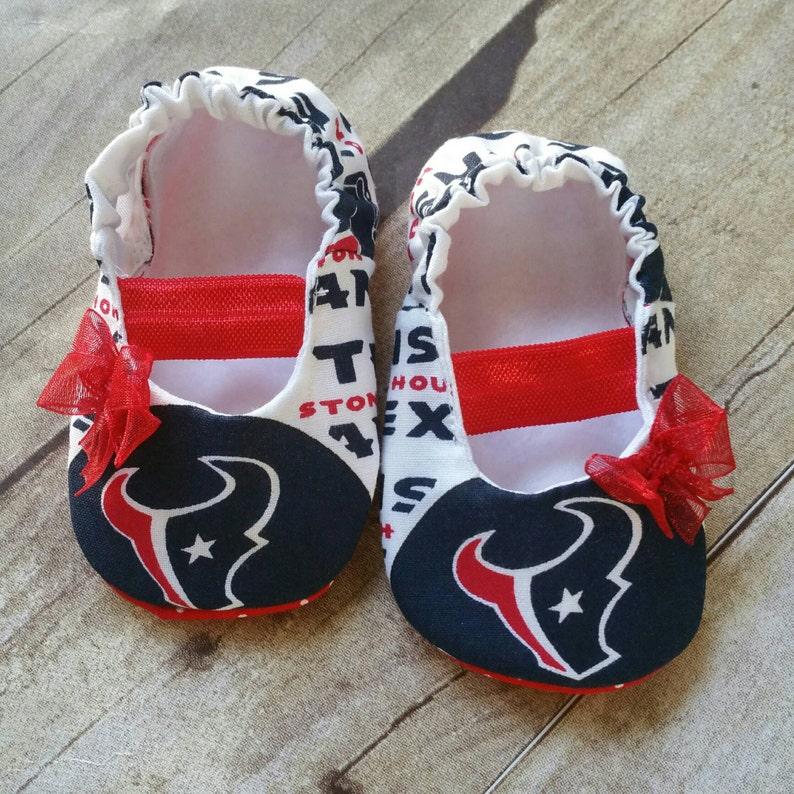 0b67398cc Houston Texans Baby Maryjane Booties