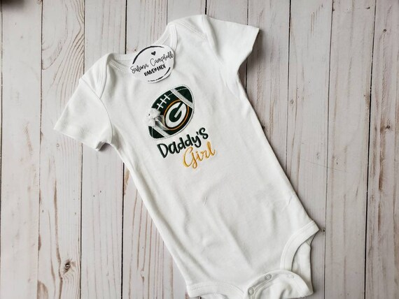 Green Bay Packers Onesie Bodysuit Shirt Love Watching With Daddy