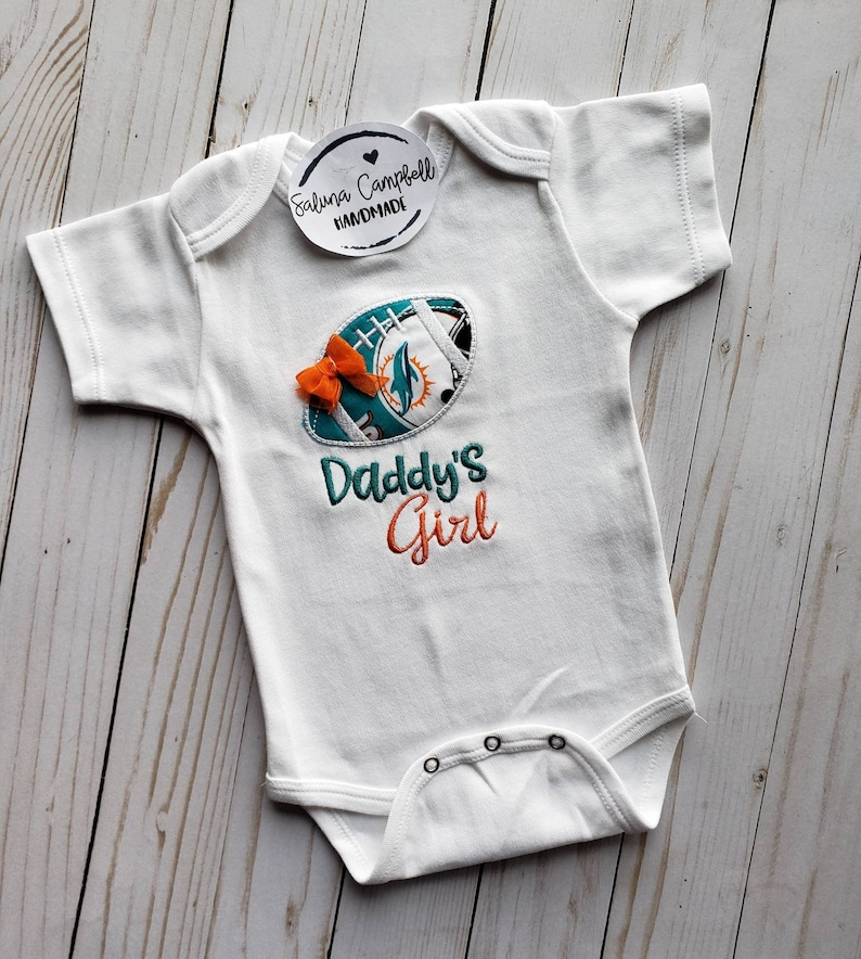 7ed29f64 Miami Dolphins Daddy's Girl Shirt or bodysuit
