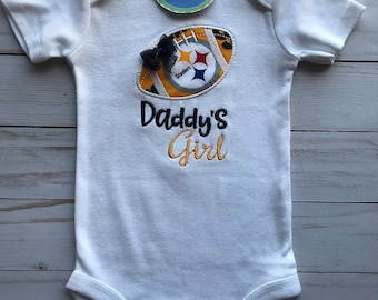 Pittsburgh Steelers Inspired Daddy's Girl Shirt or bodysuit