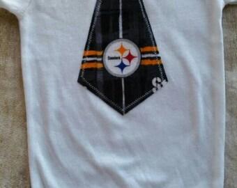 Pittsburg Steelers Inspired Tie Shirt or Bodysuit