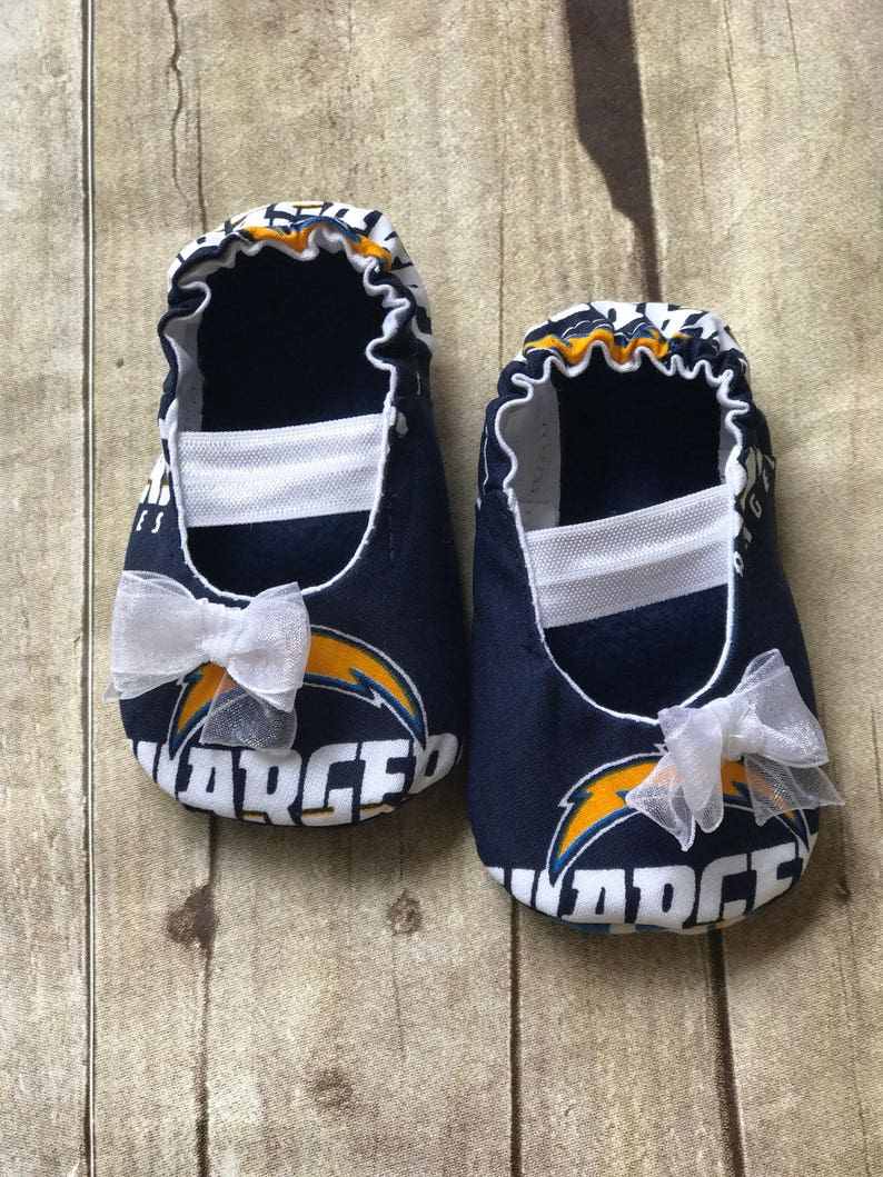 30f68a9352be3 LA Chargers Baby Mary Jane Shoes