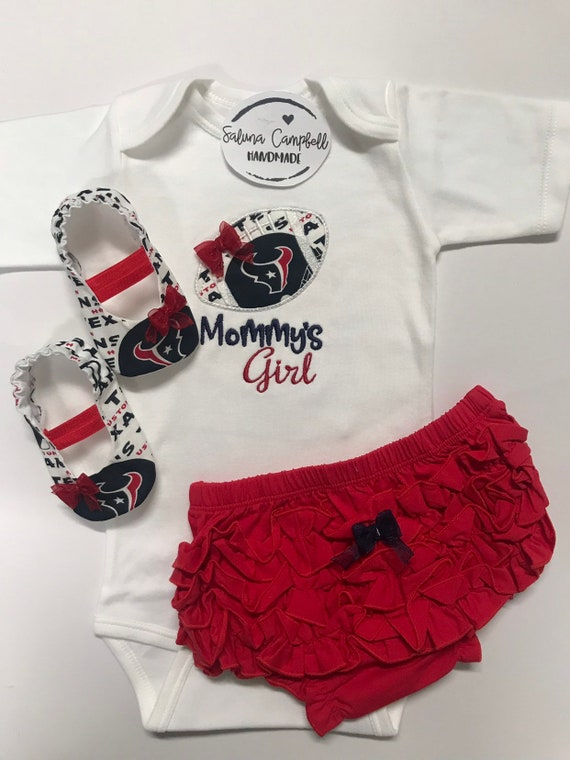 9aef42a1c Houston Texans Inspired Daddys Girl Shirt Matching Booties