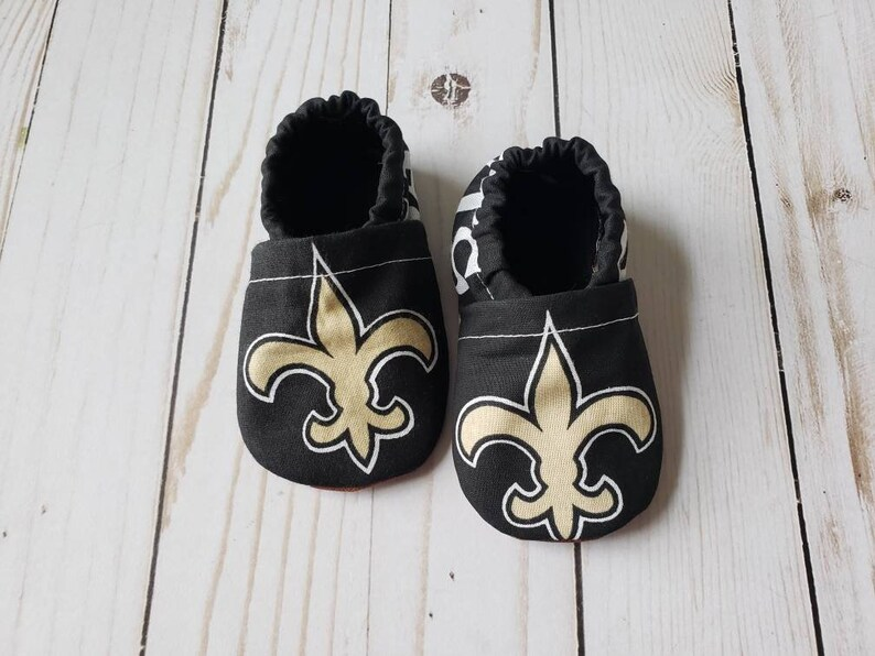 New Orleans Saints Cloth Baby Booties