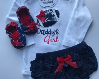 New England Patriots Daddy's Girl Baby Gift Set