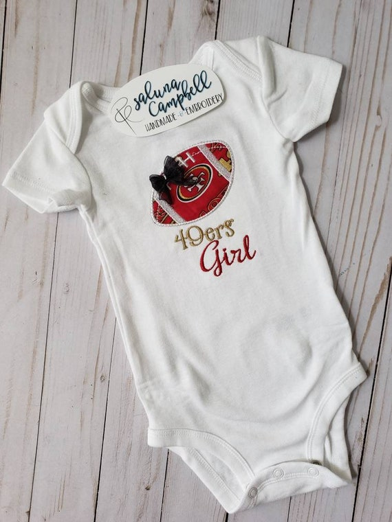 San Francisco 49ers Football Baby Bodysuit Cute New Gift Choose Size /& Color
