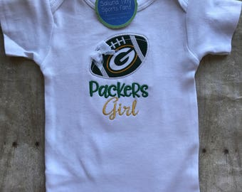 Green Bay Packers Girl Shirt or bodysuit
