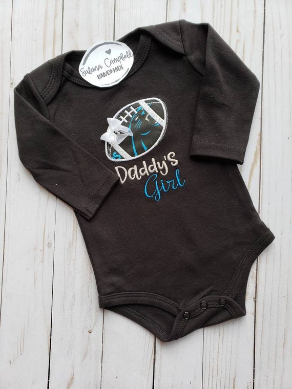 Carolina Panthers Watching With Grandpa Baby Short Sleeve Bodysuit