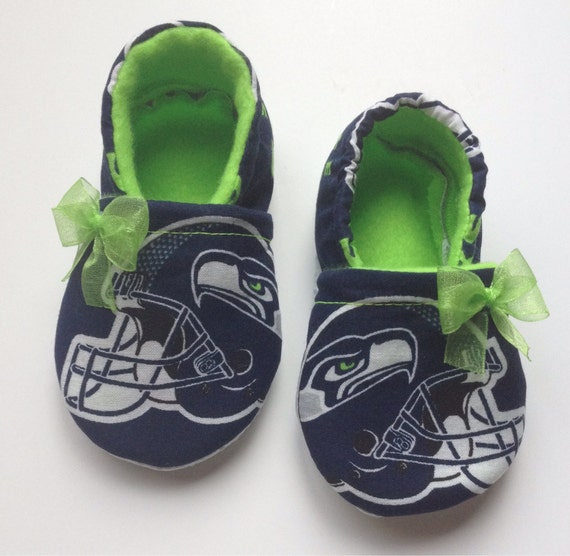 b0a5ecde0c2b0 Seattle Seahawks Inspired Baby Booties