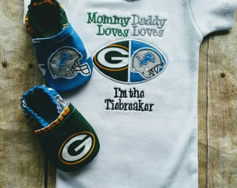 House Divided I'm the tiebreaker shirt or bodysuit  AND matching booties- you pick teams