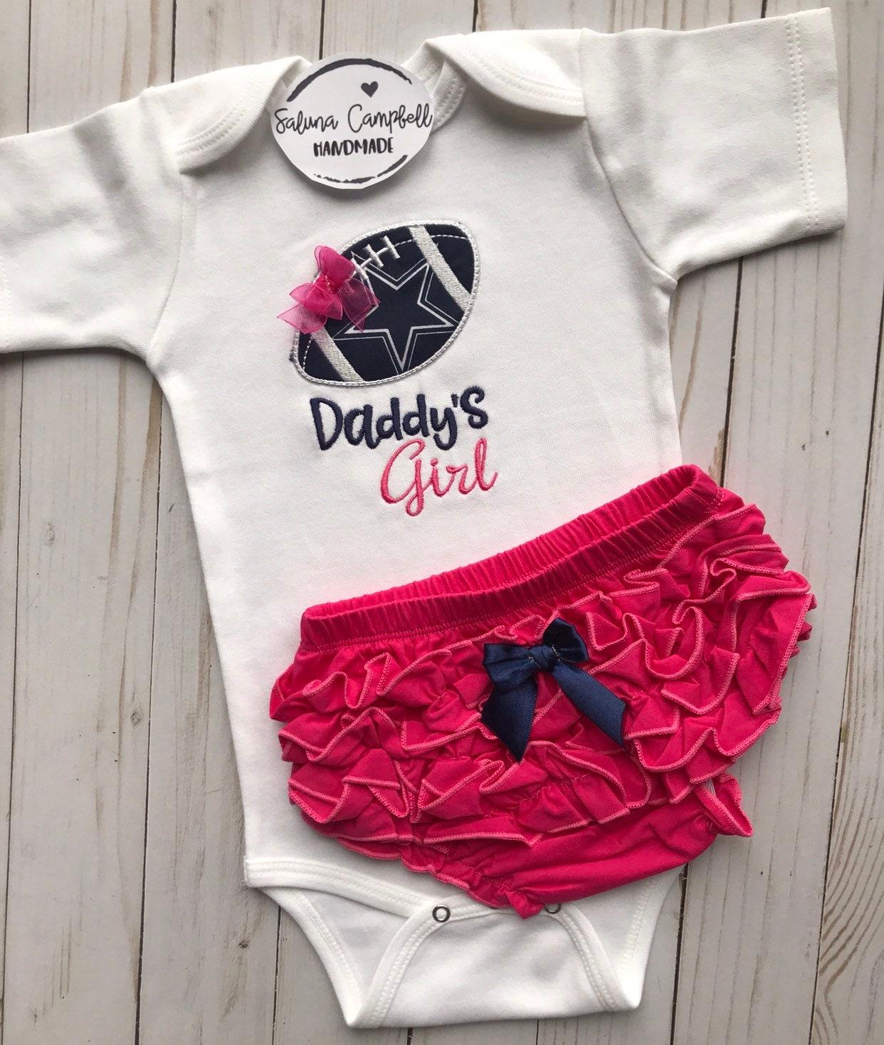 2b4eb917d Dallas Cowboys Inspired Daddy s Girl Bodysuit and Ruffle
