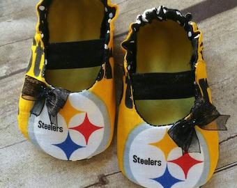Pittsburgh Steelers Baby Maryjane Booties