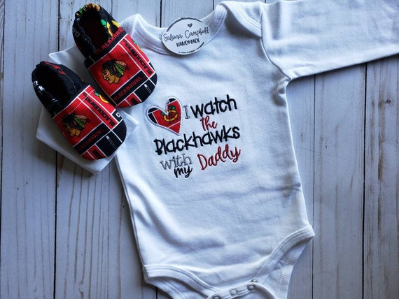 Chicago Blackhawks Inspired bodysuit and matching booties