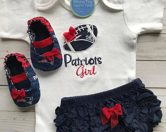 New England Patriots Girl Baby Gift Set