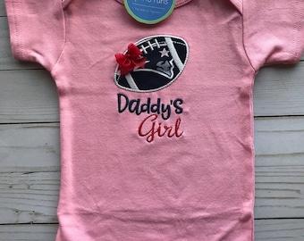 New England Patriots Inspired Girl Shirt or bodysuit