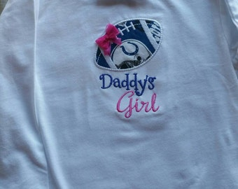 Indianapolis Colts Daddy's Girl Shirt or Bodysuit