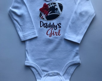 New England Patriots Daddy's Girl Inspired Girl Shirt or Bodysuit