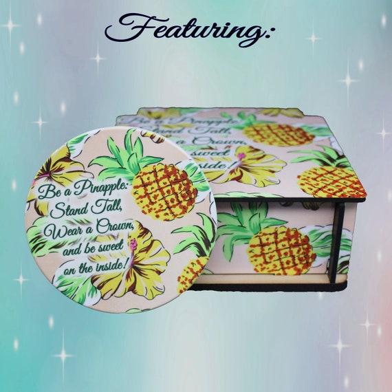 Rhinestone Pineapple Coaster