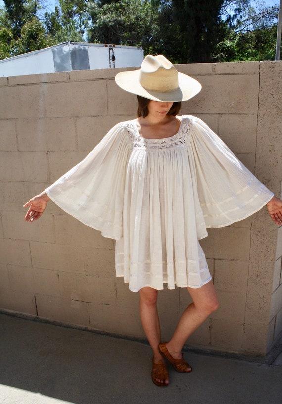 1970s Boho mini dress