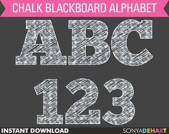 Chalkboard Alphabet | alphabet, chalkboard, alphabet letters, chalkboard font, chalk, chalk letters, alphabet clip art, alphabet clipart