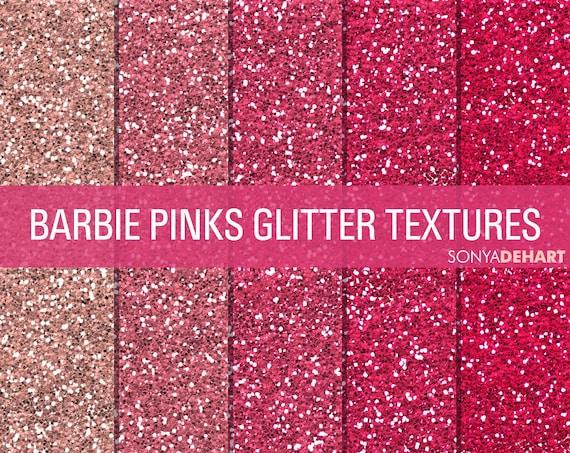glitter digital paper glitter textures paper pack barbie pinks etsy