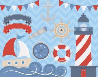 Nautical Clipart, Sea Clipart, Ocean Clipart, Boat Clipart, Nautical Clipart, Sailor Clipart, Anchor Clipart, Anchor Clip Art