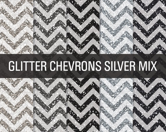 image relating to Chevron Printable Paper known as Glitter Electronic Paper Silver Glitter Chevron Textures
