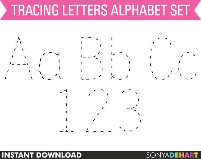 Rückverfolgung Alphabet Tracing Buchstaben Tracing | Etsy